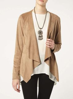 Tall Suedette Waterfall Jacket - Dorothy Perkins
