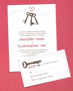 Keys to Your Heart Wedding Invitation