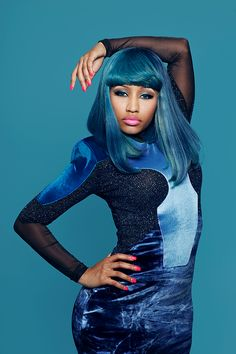 Nicki Minaj All Blue Everything!