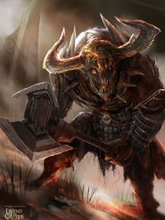 Undead Minotaur Advance by Ubermonster.deviantart.com on @deviantART