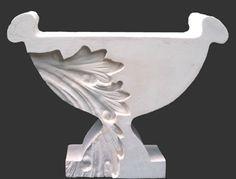 Concrete acanthus urn series. Kathy Dalwood, UK. 2013. Garden Urns Contemporary Baroque style concrete sculptures Indoor outdoor
