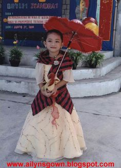 Barot Saya, Modern Filipiniana Dress, Filipino Wedding, Kids Gown, Folk Dance, Pinoy, Tulle, Gowns, Costumes