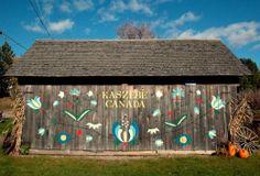 Old barn at The Polish Kaszub Heritage Museum in Wilno, Ontario, Canada.