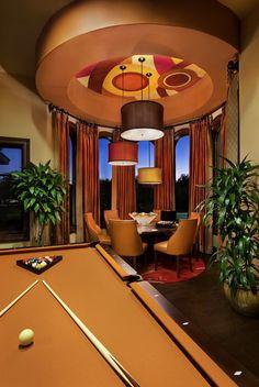 Captivating Современная бильярдная комната   Фото 3
