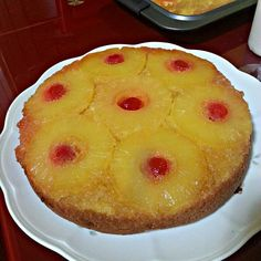 """Pineapple upside-down cake"""