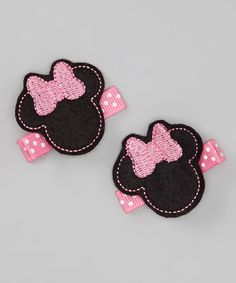 Take a look at this Mouse Felt Clip Set by Too Too Cute on #zulily today!