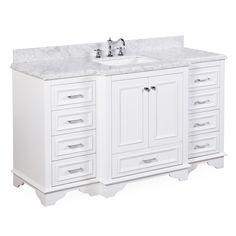 Nantucket 60-inch Single (Carrara/White)
