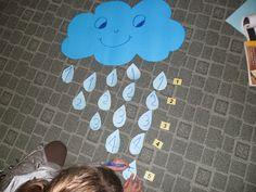 Της Τάξης και της Πράξης: Ο καιρός και οι αλλαγές του....Η βροχή Maths, Science, Activities, Create, Blog, Play Dough, Flag, Science Comics