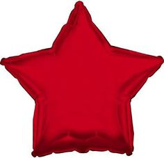 """18"""" Solid Red Star Shape Balloon Wedding Baby Shower Birthday Over Hill Bridal"""