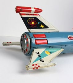 Wonderful Yonezawa Space Ship Moon Rocket Toy Battery Operated with Lights + Box   eBay