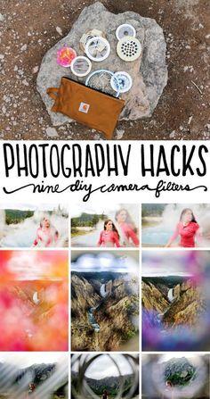 Photography Tips | Photography Hacks / 9 DIY Camera Filters