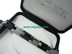 Quantum & Tungsten Bracelets - Buy Tungsten Bracelet - Black Silver Plates Design (Men)