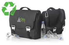 The Rio RPET laptop bag is 100% made from recycled PET bottles.