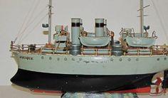 Marklin windup battleship clockwork toy boat