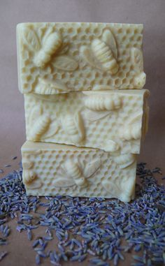 Items similar to Lavender and Honey Honeycomb Olive Oil and Beeswax Soap - Handmade on Etsy I Love Bees, Bee Party, Soap Packaging, Bees Knees, Soap Molds, Soap Recipes, Home Made Soap, Handmade Soaps, Soap Making