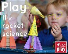 Rockets + kids = play...love it