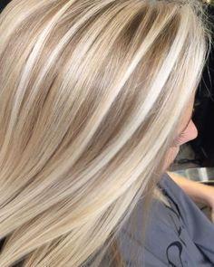 blonde with high and low lights Short hair, long hair, braids. Hair & Beauty inspiration blonde, bobs, buns, brunette, hair inspiration, hair styles, blonde hair, curly hair, hair style ideas.