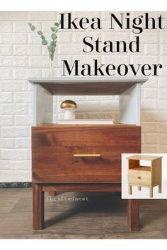 An Ikea makeover using theTarva nightstand. Learn how to paint Ikea furniture in this Ikea Tarva Hack. A plain piece of ikea furniture is made custom using mustard chalk paint. This Furniture Makeover is easy to recreate for your own custom furniture! Painting Ikea Furniture, Ikea Furniture Hacks, Cute Furniture, Furniture Projects, Bedroom Furniture, Furniture Decor, Ikea Hacks, Furniture Design, Dresser Furniture