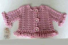 The 4 Crochet Baby Crochet Projects Knitting Patterns Baby Boy Crochet Round Crochet Coat Kid Outfits Crafts Moda Crochet, Crochet Girls, Crochet Baby, Knitting For Kids, Baby Knitting Patterns, Baby Patterns, Sweater Patterns, Crochet Coat, Crochet Cardigan