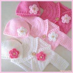 Patron chambritas para bebe a crochet gratis05 Crochet Cardigan Pattern, Crochet Blanket Patterns, Modern Crochet Patterns, Baby Patterns, Crochet Baby Dress Free Pattern, Baby Sweater Patterns, Free Crochet, Black Crochet Dress, Crochet Coat