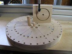 Wooden Models #166: Mag Wheel Making Jig - by htl @ LumberJocks.com ~ woodworking community Wooden Toy Wheels, Wooden Toy Trucks, Wooden Plane, Wooden Wheel, Woodworking Projects For Kids, Woodworking Crafts, Woodworking Bandsaw, Making Wooden Toys, Wooden Gears