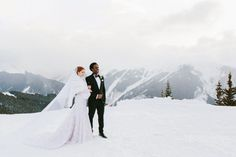Winter weddings - what an amazing landscape to be in!
