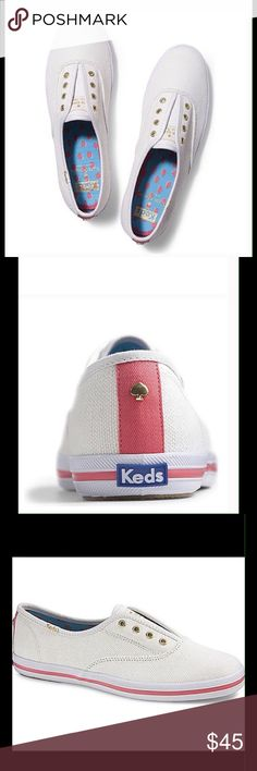 Kate Spade Linen KEDs Champion In excellent used condition. Original box shown is not available kate spade Shoes