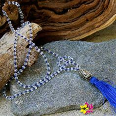 """Prosper your life, attract prosperity by wearing our trendy """" Prosperity Mala Necklace"""" for only $41. Enter """"FREESHIPPING"""" for orders $25 and above when you checkout from our online store!# #MalaNecklace #Beads #GoldBuddha #Blue #Buddha #TassleNecklace #BlueTassle #Necklace #HippieStyle #ProsperityNecklace #Tassle #Gypsy #Boho #Peace #Love #Happiness #Luvgypsy #Bohemian #Mantras #StatementJewelry #Jewelry #ChristmasSale #BohoChic #Bohemian #BohemianJewelry #GypsyNecklace #JewelrySale"""