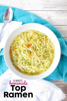 Homemade Top Ramen soup recipe. I had no idea it was this EASY to make! I couldn't stop eating it......
