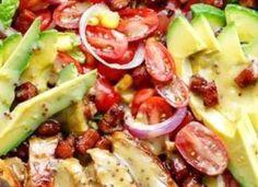 Honey Mustard Chicken Avocado Bacon Salad