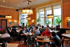 """The Elephant House Café in Edinburgh, Scotland (also known as """"The Birthplace of Harry Potter"""")"""