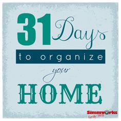 31 Days to Organize Your Home: Day 1-3 Organizing the Kitchen -ok, ladies -raise your hand if you can relate to this.... :)