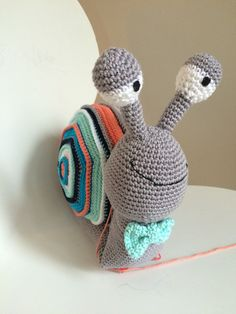 lumaca amigurumi (tutorial schema)/How to crochet a snail ... | 314x236