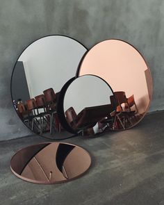 CIRCUM Mirror Small in Black by AYTM