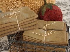Tea Hand Dyed Wool Applique Bundle from The Merry Hooker Woolens