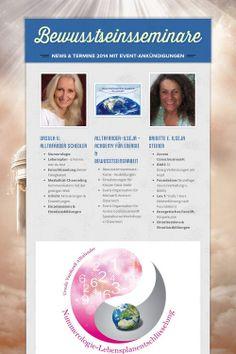 Bewusstseinsseminare - News & Termine 2014 mit Event-Ankündigungen by Brigitte Ilseja Steiner Ursula, Planer, Education, Life Planner, Consciousness, Onderwijs, Learning