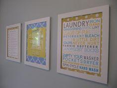 everyday organizing: Laundry Room Art