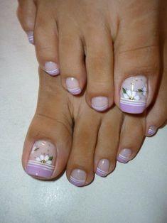 Manicure, Pedicure Nail Art, Pedicure Designs, Toe Nail Designs, Toe Nail Art, Painted Toe Nails, Fingernails Painted, Cute Toe Nails, Sexy Nails