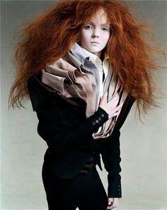 .collars, shirts, copper hair