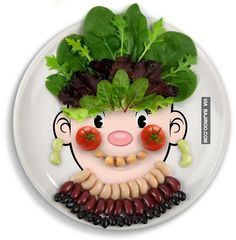 picky eaters food art funny face Funny food art