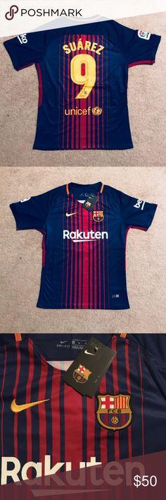 Suarez #9 Barcelona soccer jersey Brand new with tags , Barcelona soccer jersey for men medium size , La liga 17/18 . Suarez #9 Nike Shirts Tees - Short Sleeve