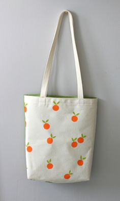 Summer Tangerines tote bag - LesEpinglesOubliees
