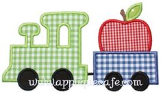 Apple Train Applique Design
