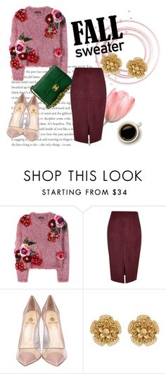 """""""Untitled #567"""" by little-mrs-cant-be-wrong ❤ liked on Polyvore featuring Dolce&Gabbana, River Island, Semilla, Miriam Haskell and Chanel"""