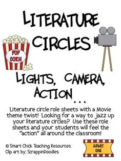 A Movie Theme inspired Literature Circles packet that can be used throughout the school year, or can be used for one book (maybe a book that is a m...