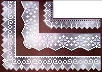 This Pin was discovered by Viš Crochet Doily Diagram, Filet Crochet Charts, Crochet Lace Edging, Crochet Borders, Thread Crochet, Crochet Trim, Crochet Stitches, Crochet Hooks, Knit Crochet