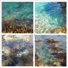 Beach theme Sea water photographic print Turquoise by NewCreatioNZ