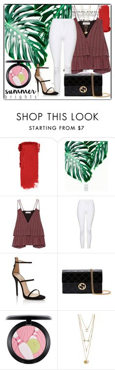 """""""Summer Brights"""" by yixingunicorn ❤ liked on Polyvore featuring Apiece Apart, Topshop, Lipsy, Gucci and MAC Cosmetics"""