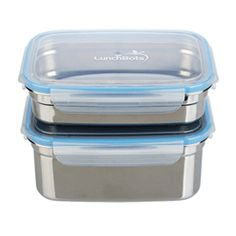 Clicks Medium Stainless Leakproof Containers, Set of 2