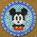 Mickey coaster -- perler beads